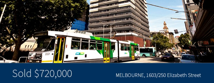 1603/250 Elizabeth Street, Melbourne - Sold for $720,000