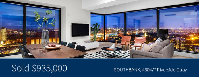 4304/7 Riverside Quay, Southbank - Sold for $935,000