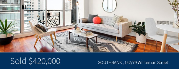 142/79 Whiteman Street, Southbank - Sold for $420,000 - Harcourts Melbourne City