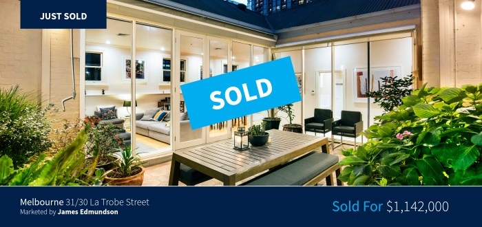 31/30 La Trobe Street, Melbourne - Sold for $1,142,000 - Harcourts Melbourne City