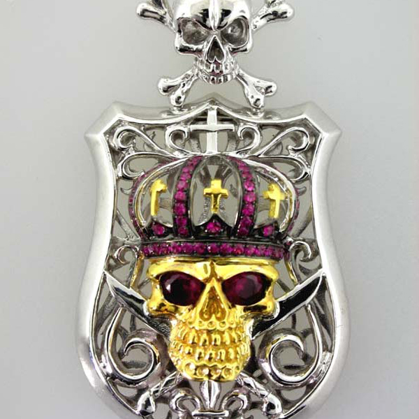 Skull and Shield Pendant