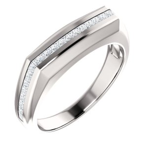 Men's Princess Channel Set Ring