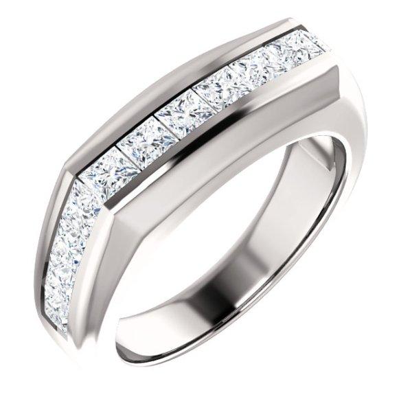 Men's Princess Channel Set Ring