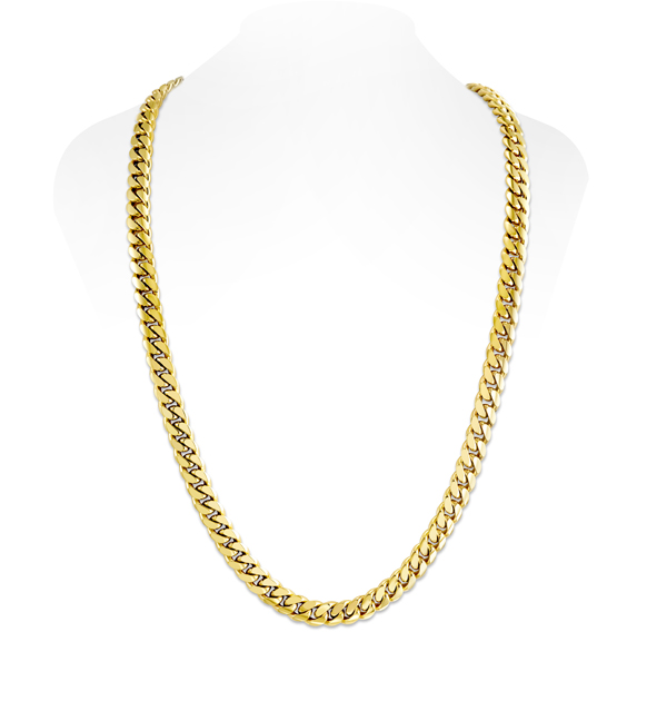 c4c6549783719 10mm 10K Miami Cuban Link Chain