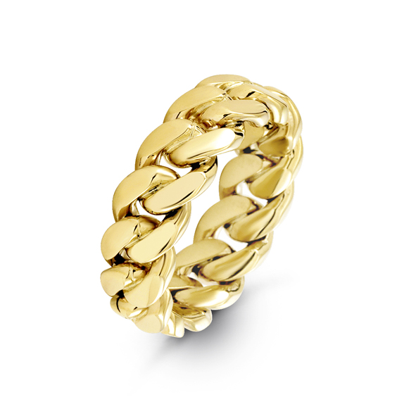 8mm Cuban Link Ring