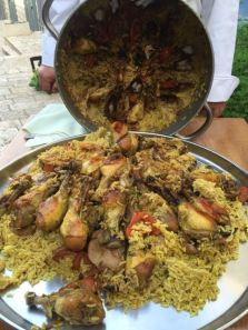 The star of the show seemed to be Chef Moshe's maqluba – a traditional Palestinian-Jordanian style upside down casserole (similar to Tebit, often considered the Iraqi take on cholent).