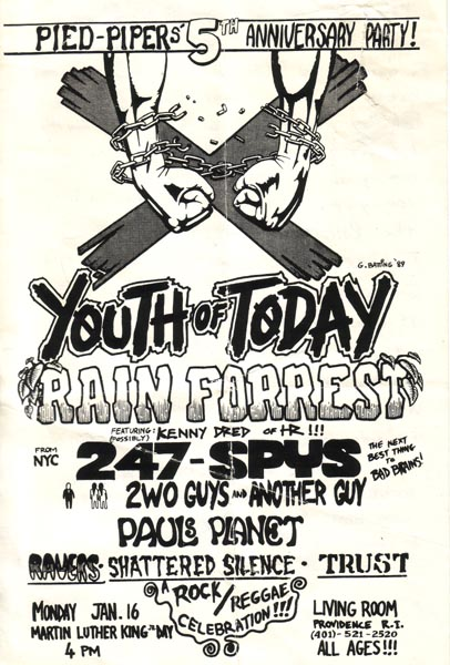 Youth Of Today Rain Forrest 24 7 Spyz Shattered Silence Trust @ Part 89