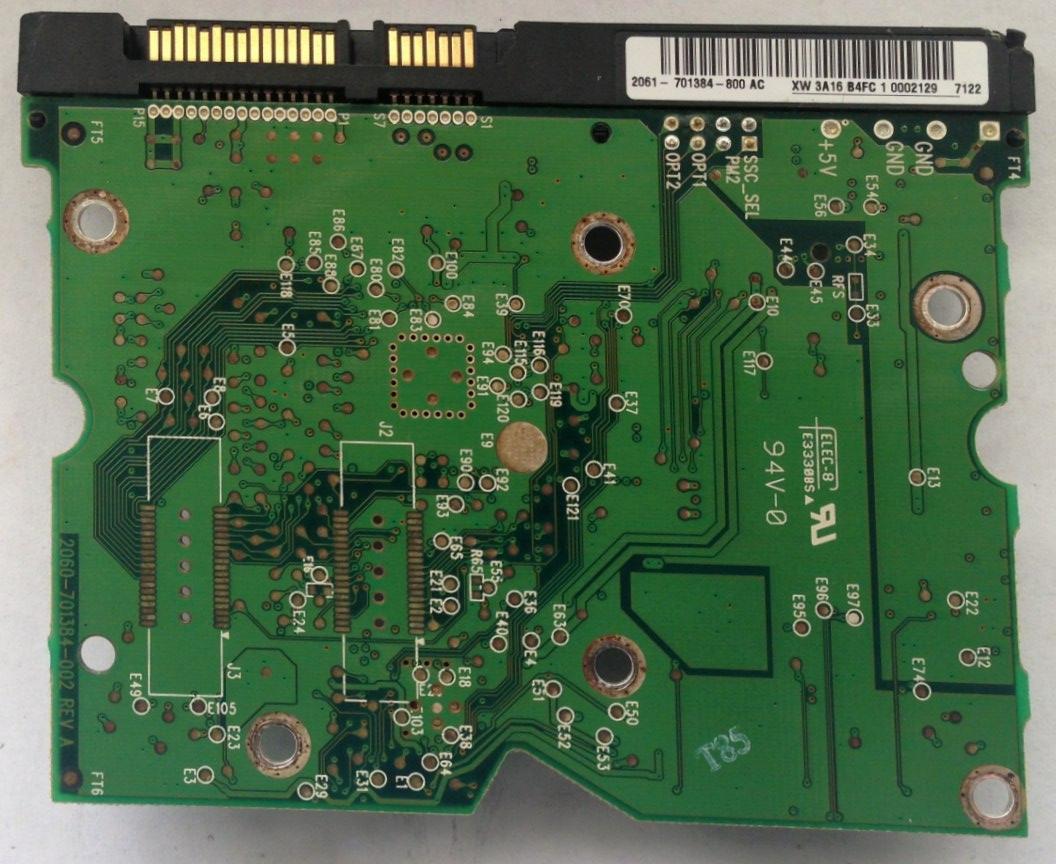PCB WD1600ADFD-75NLR1 2061-701384-800 AC Western Digital