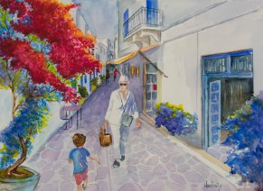 Paros, by David Hardesty, watercolor, 11 x 15