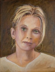 Portrait, by David Hardesty, oil on canvas, 18 x 14