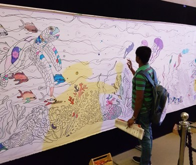 Science Festival Coral Colouring In Whole Picture