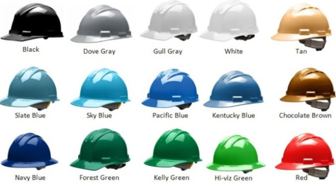 Hard Hat Color Code What Do Hard Hat Colors Mean