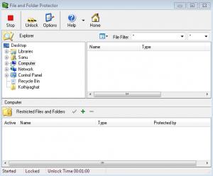 Main application window.