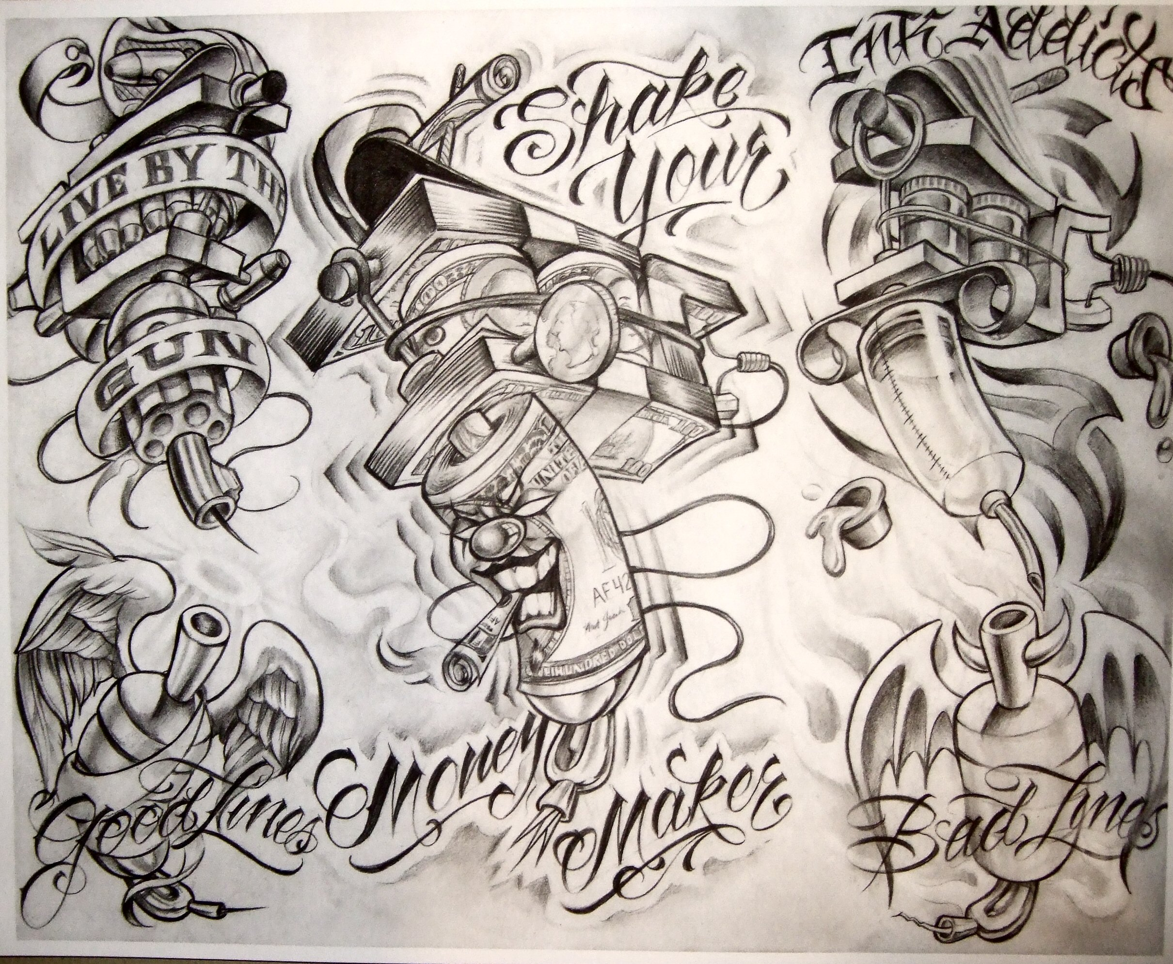 Gangster Tattoo Outline Drawings Novocom Top