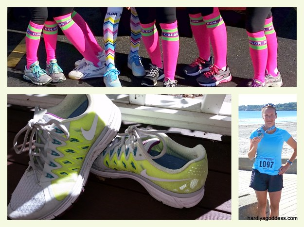 Inspiration: Running with friends, new sneakers, and a finisher's medal.