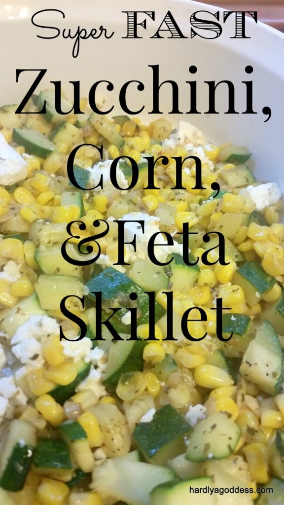 zucchini corn feta skillet