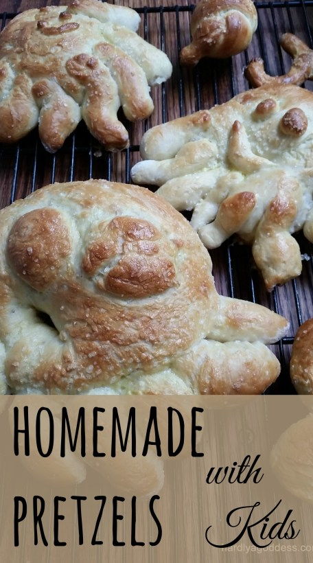 Homemade pretzels with kids are so delicious and easy to make too!