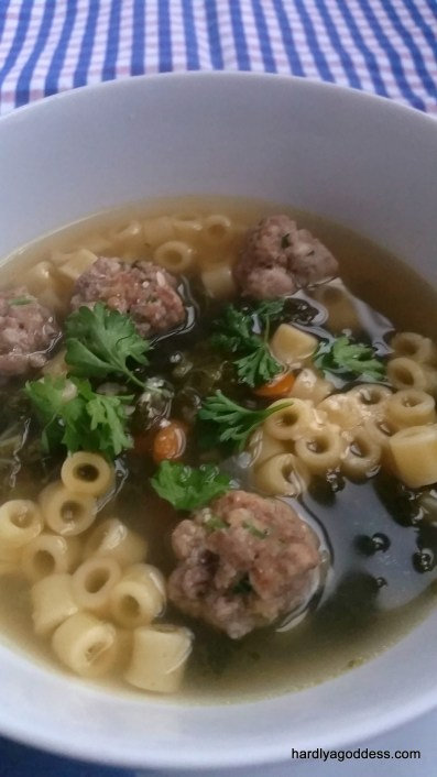 Italian Wedding Soup | Hardly A Goddess