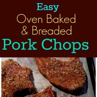 Easy Oven Baked & Breaded Pork Chops #SundaySupper