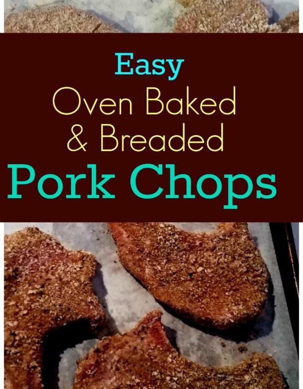 Oven Baked & Breaded Pork Chops