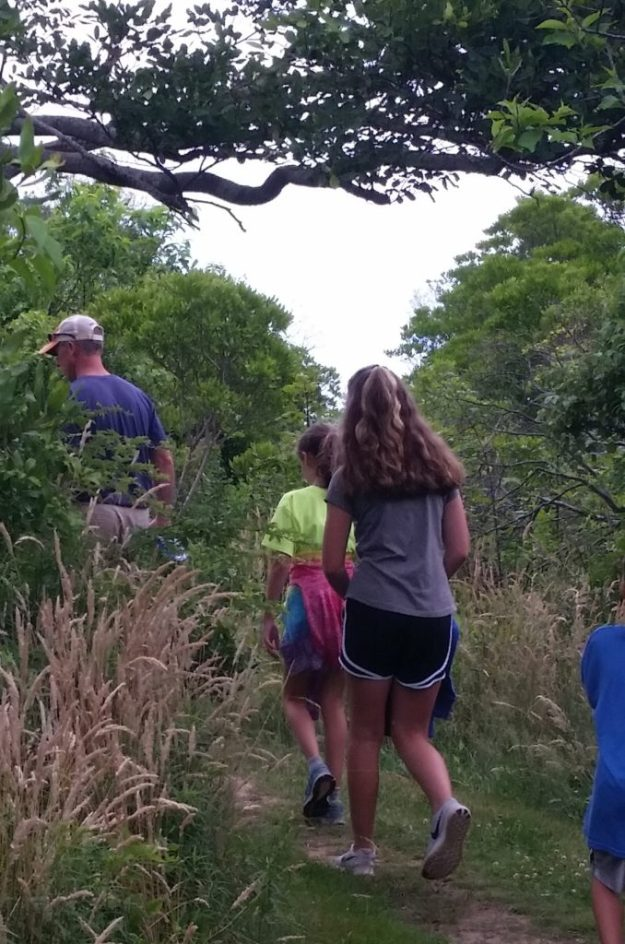 Hiking on Block Island