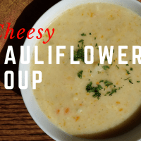 Cheesy Cauliflower Soup #SundaySupper
