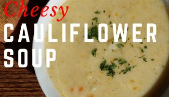 Cheesy Cauliflower Soup SundaySupper