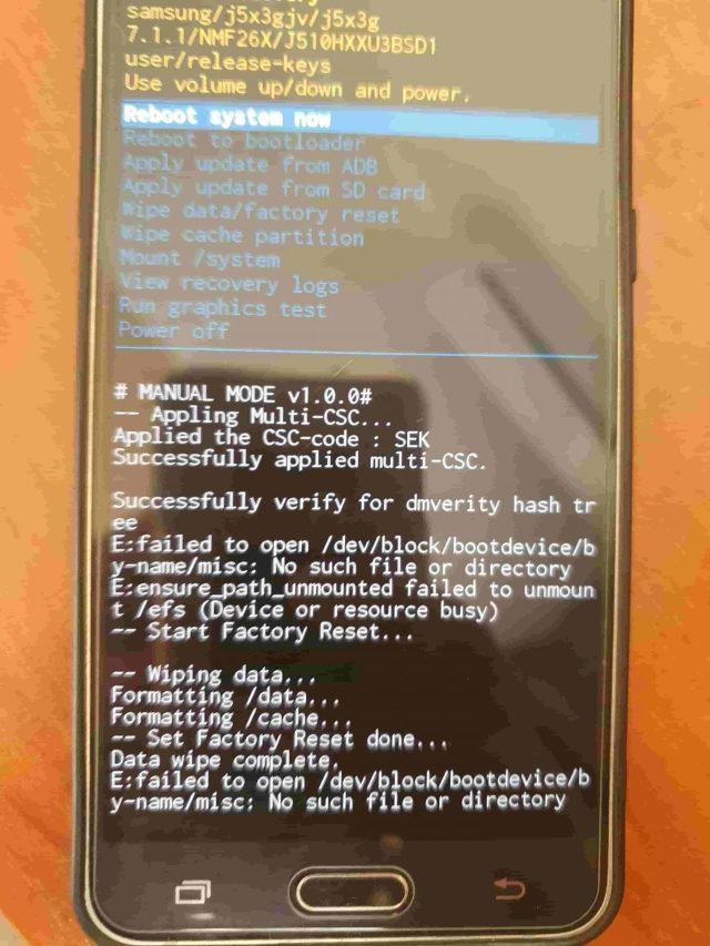 How to hard reset Samsung Galaxy J28 J2800H/DS or J2810/H