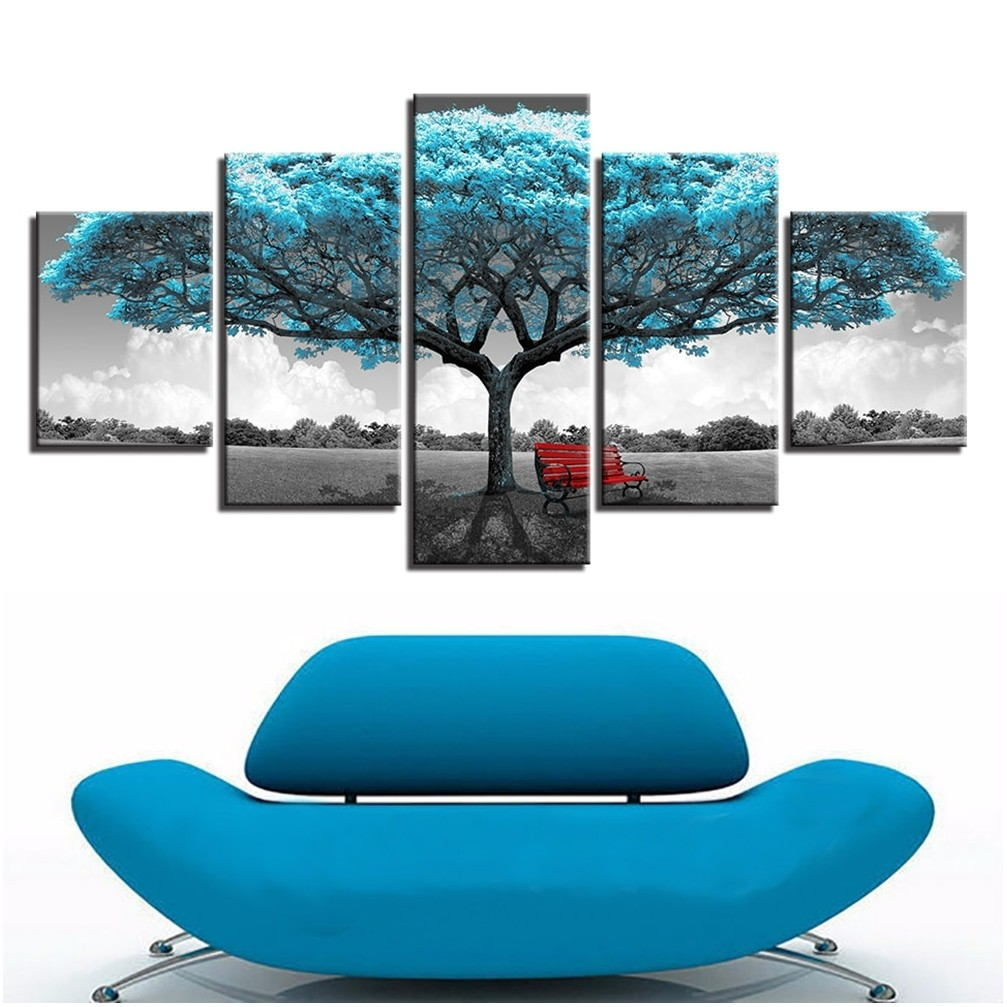 Big Paintings For Living Room Blue