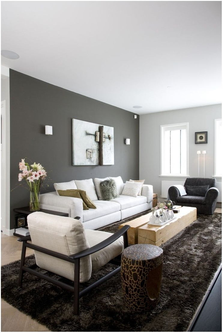 Black And Gray Living Room Paint