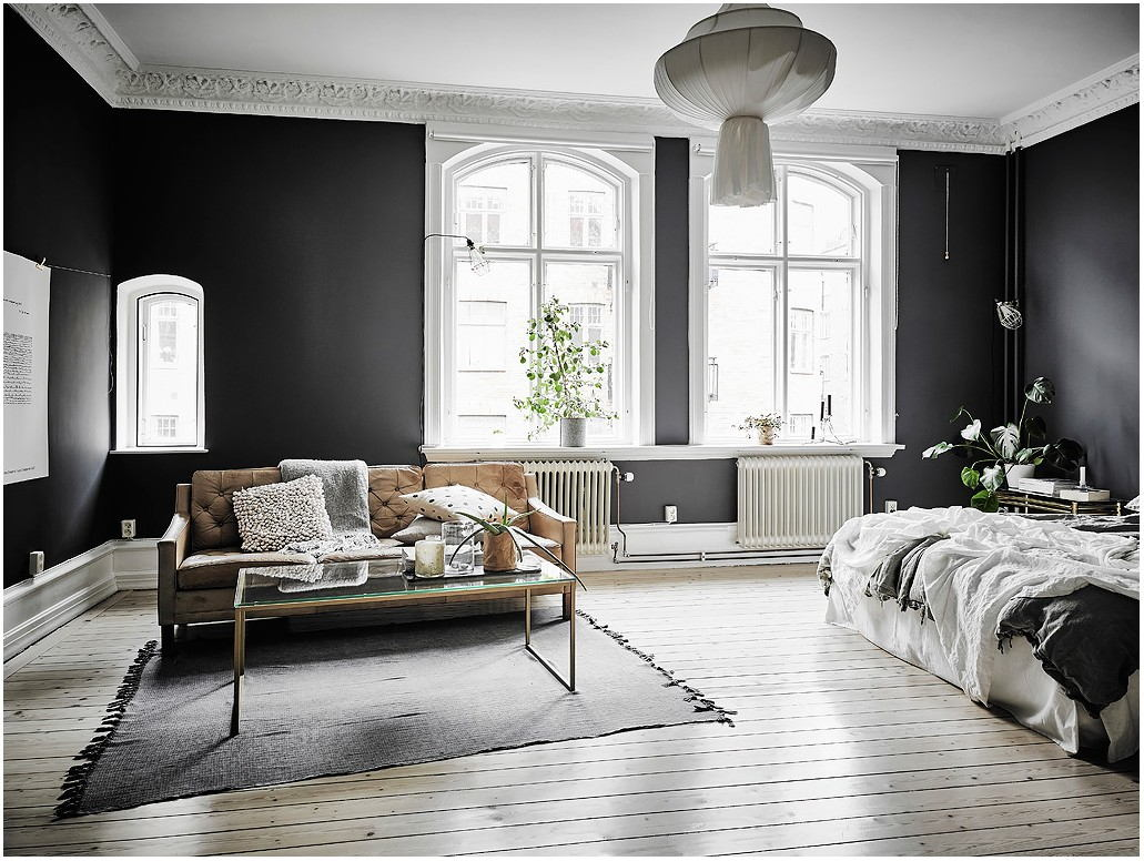 Black And White Painted Living Room