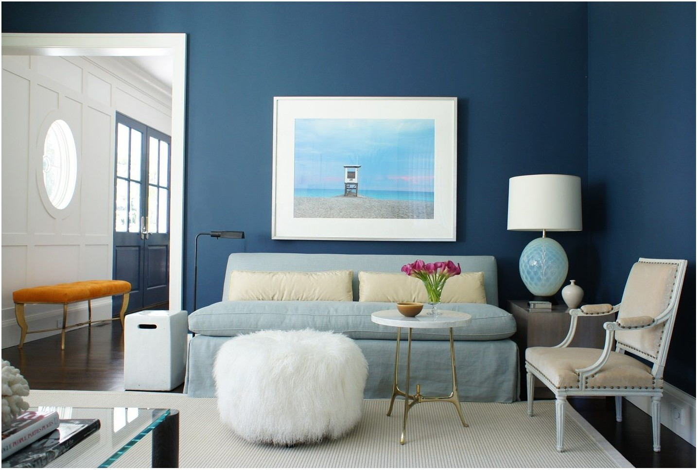 Blue Painted Living Room Walls