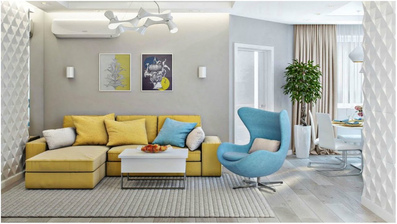 Bright Painted Living Room