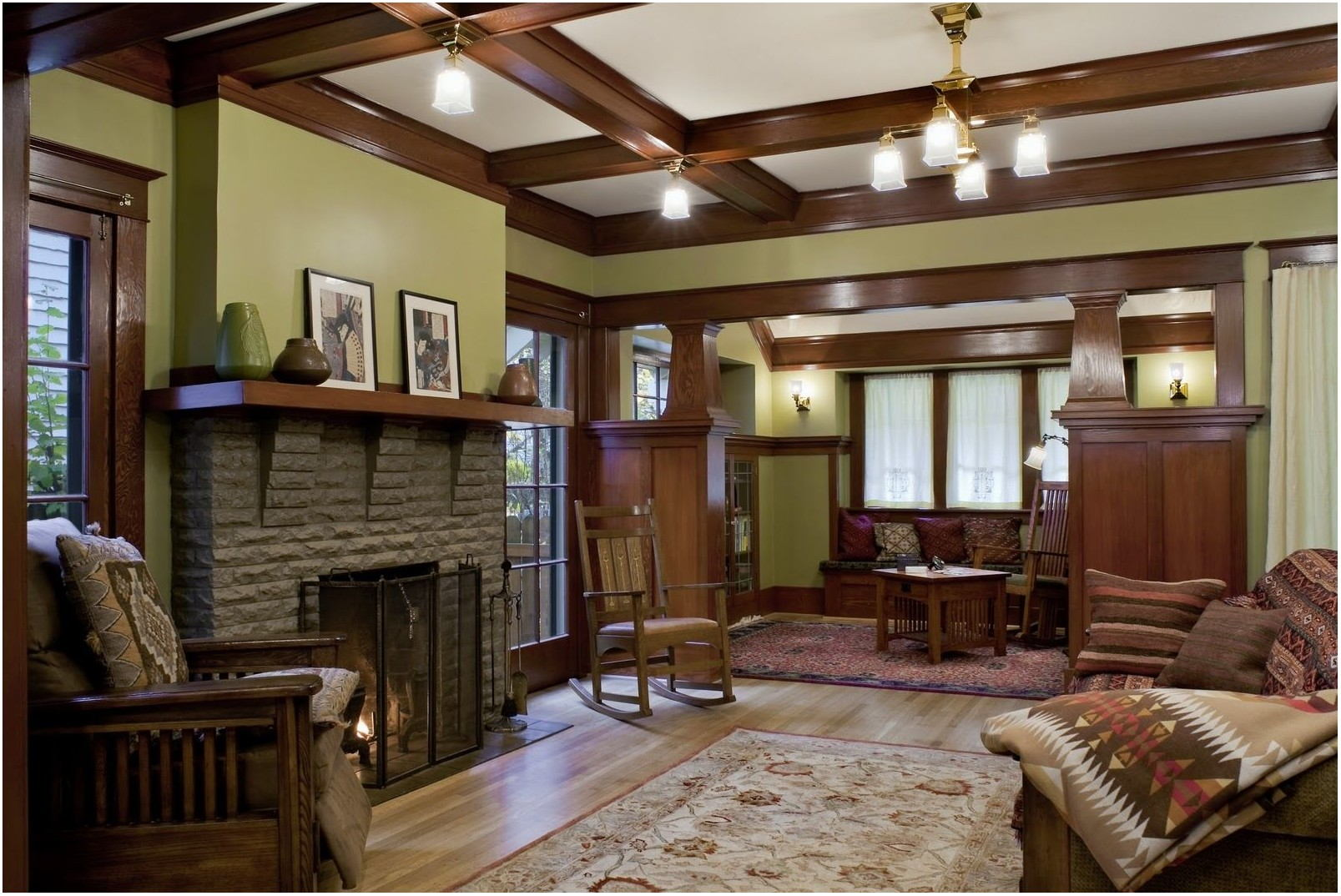 Craftsman Living Room Paint Colors