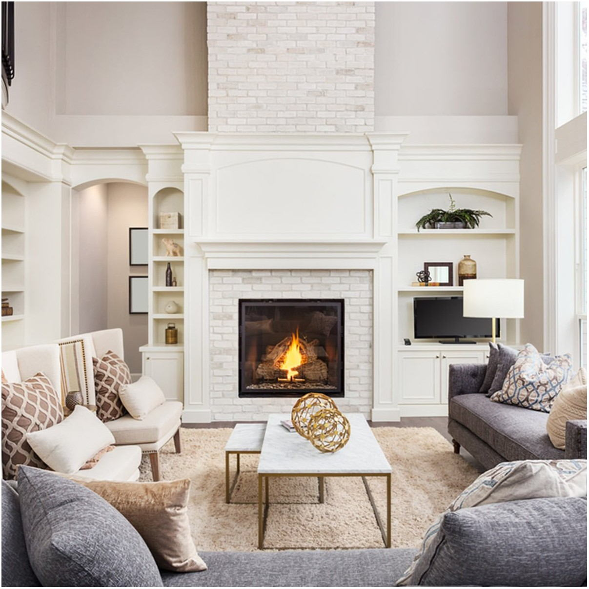 Fireplace Living Room Paint