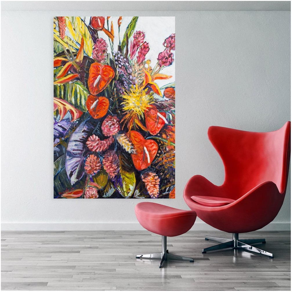 Floral Paintings For Living Room