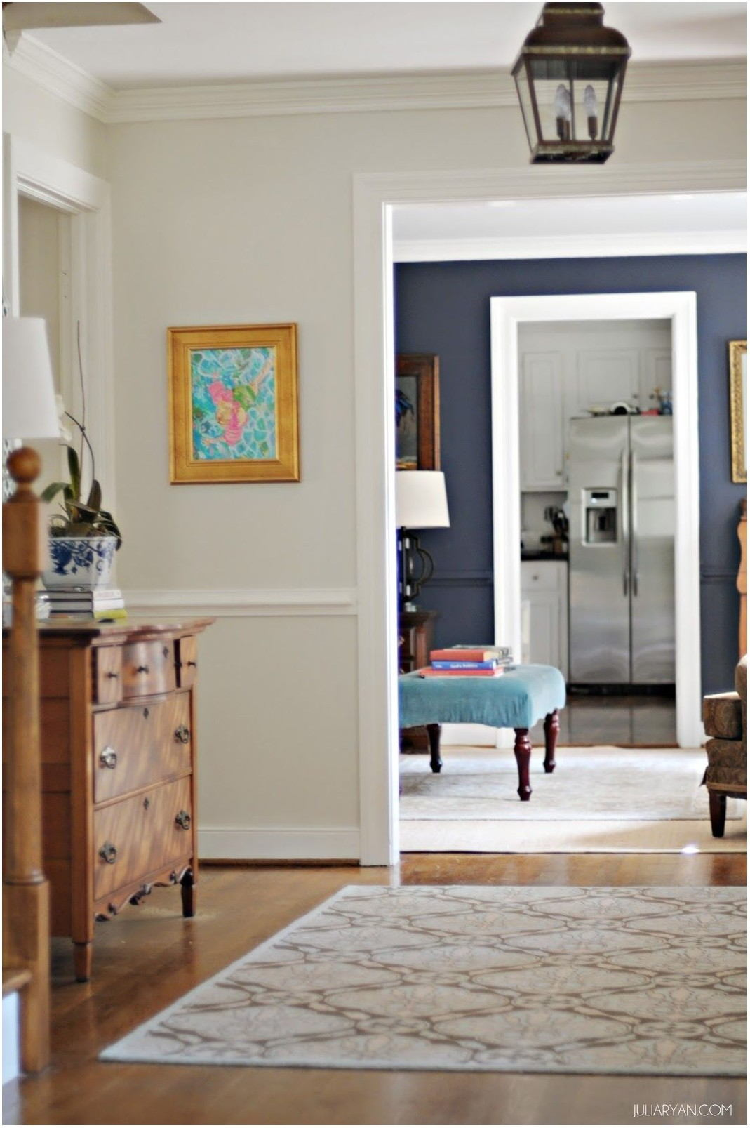 Gray And Navy Living Room Paint