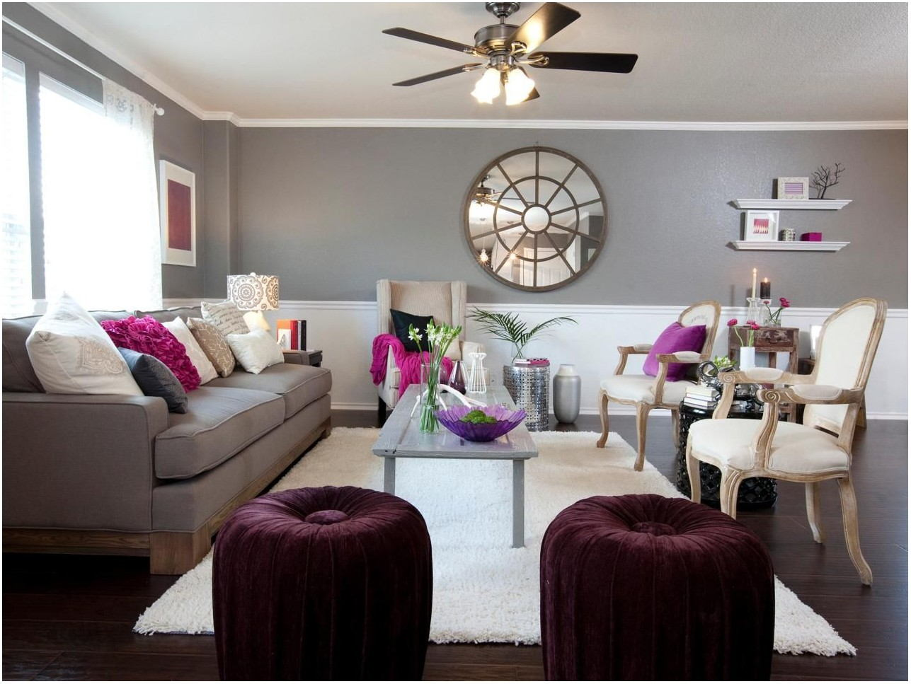 Gray Plum Painted Living Room