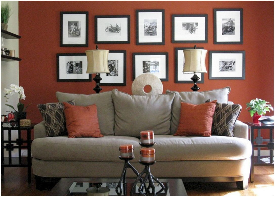 Grey And Red Living Room Paint