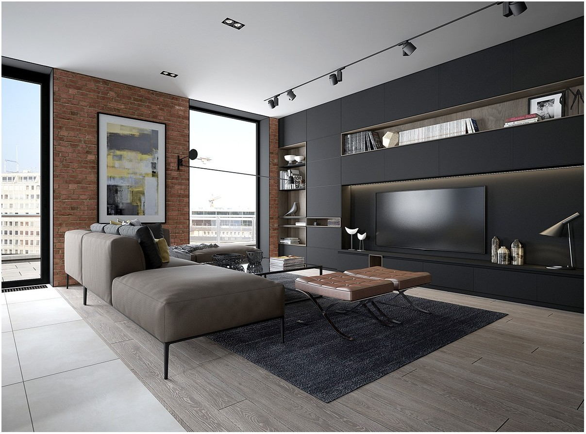 Grey Painted Living Rooms Contemporary