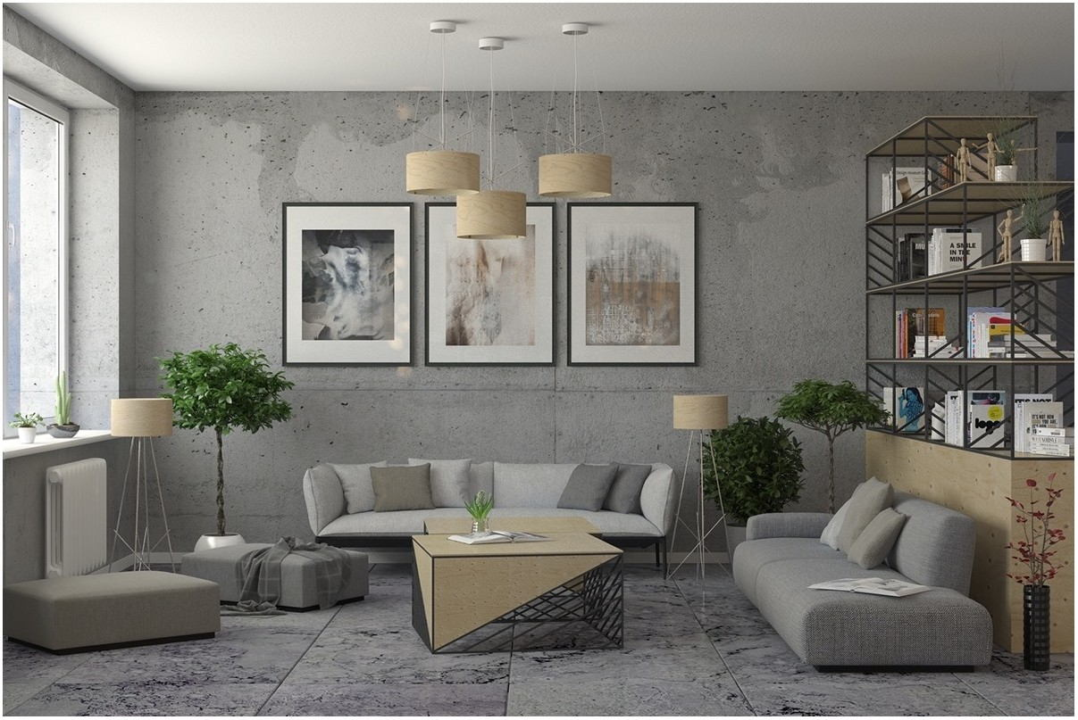 Industrial Living Room Paint Colors