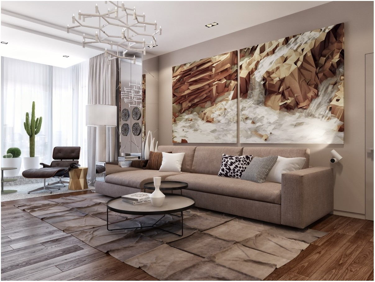 Interior Design Living Room Wood Wall Art