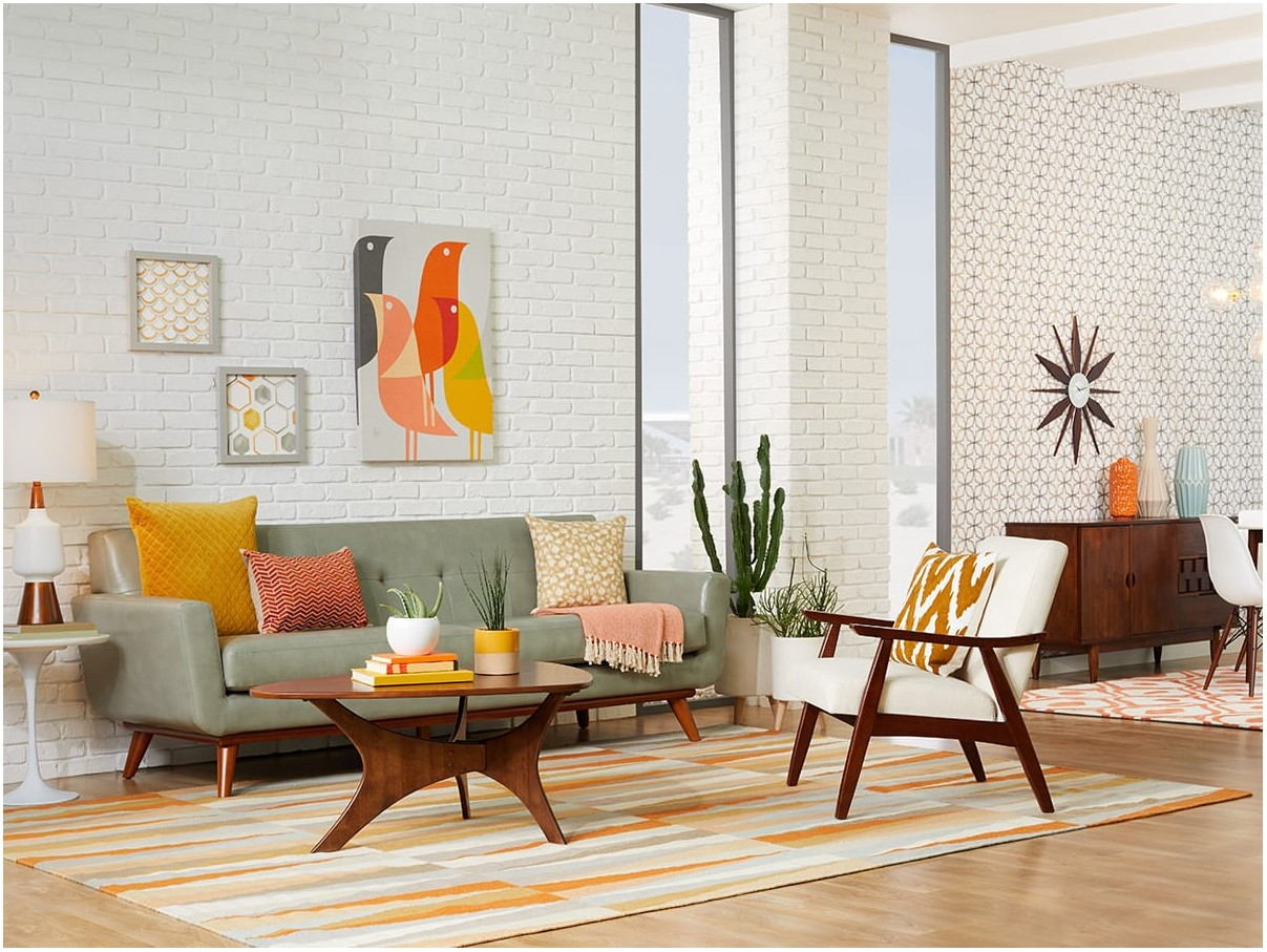 Interior Living Room Mid Century Modern