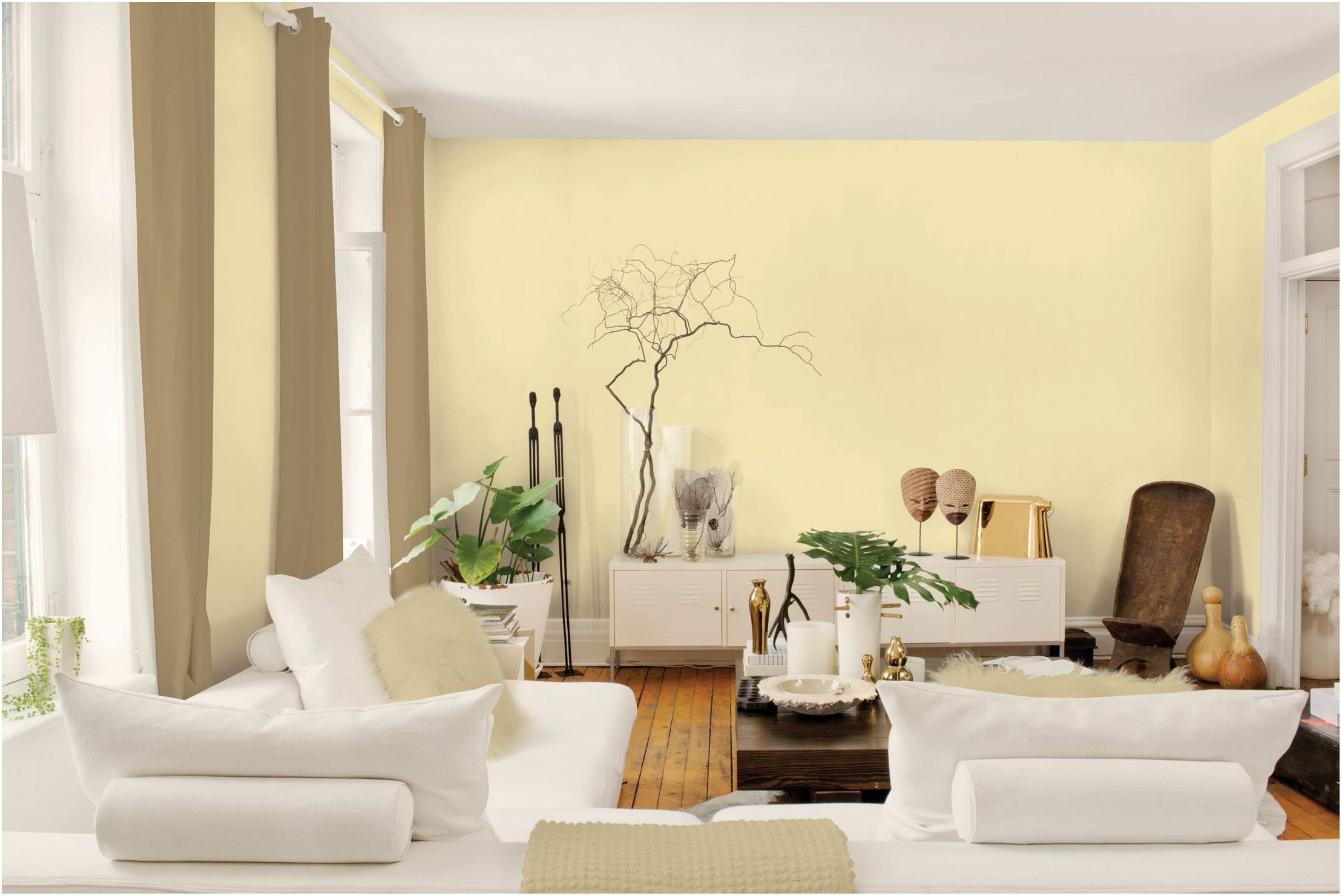 Light Yellow Paint Color For Living Room