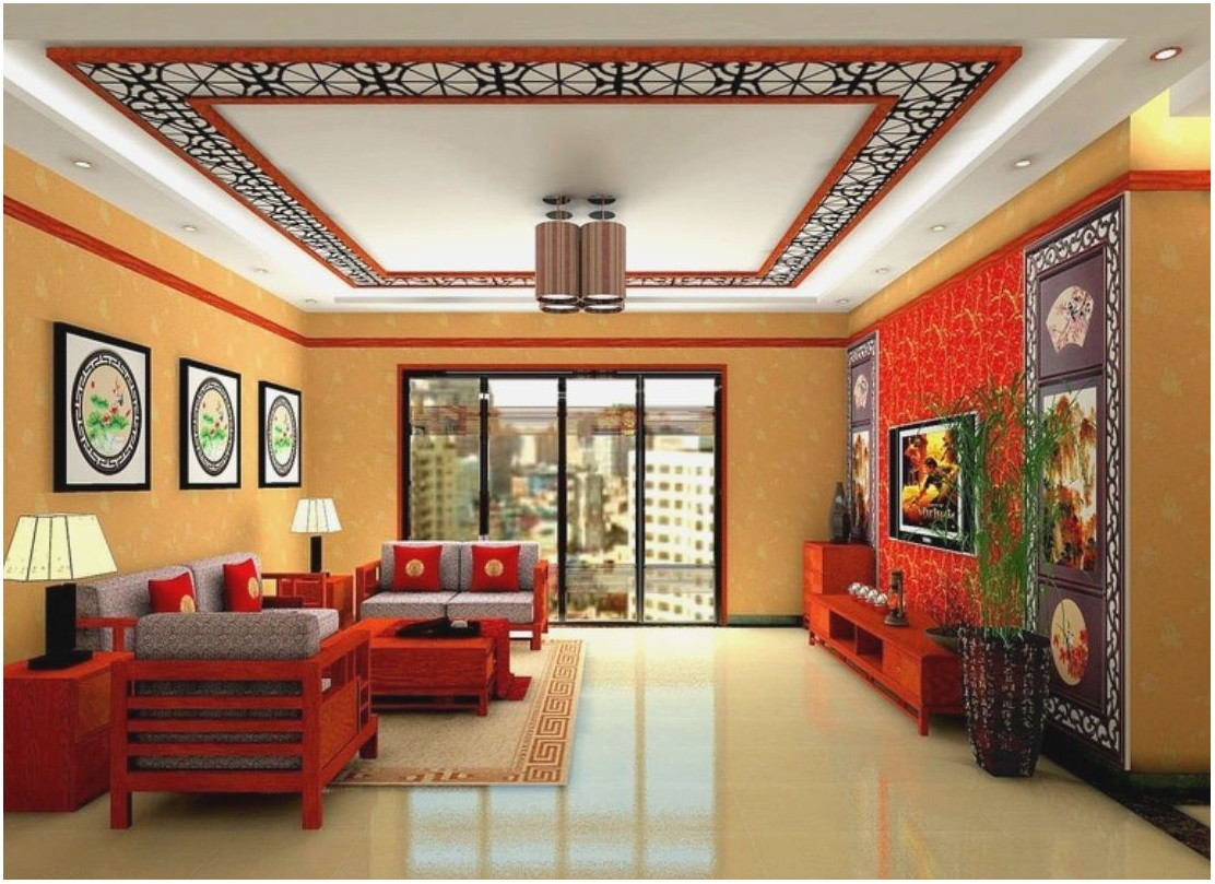 Living Room Ceiling Paint Design