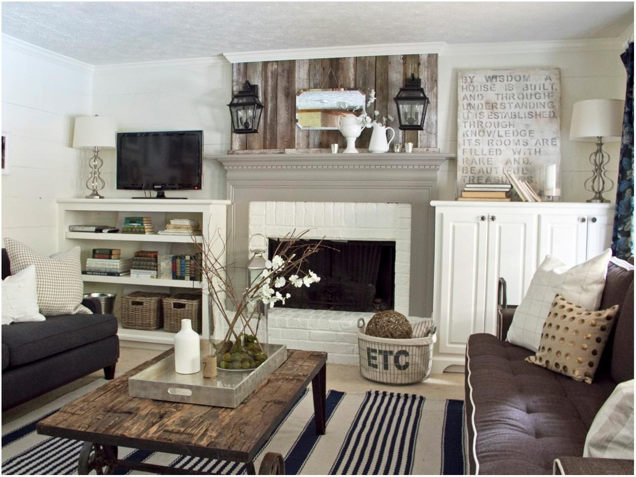 Living Room Fireplace Paint Ideas