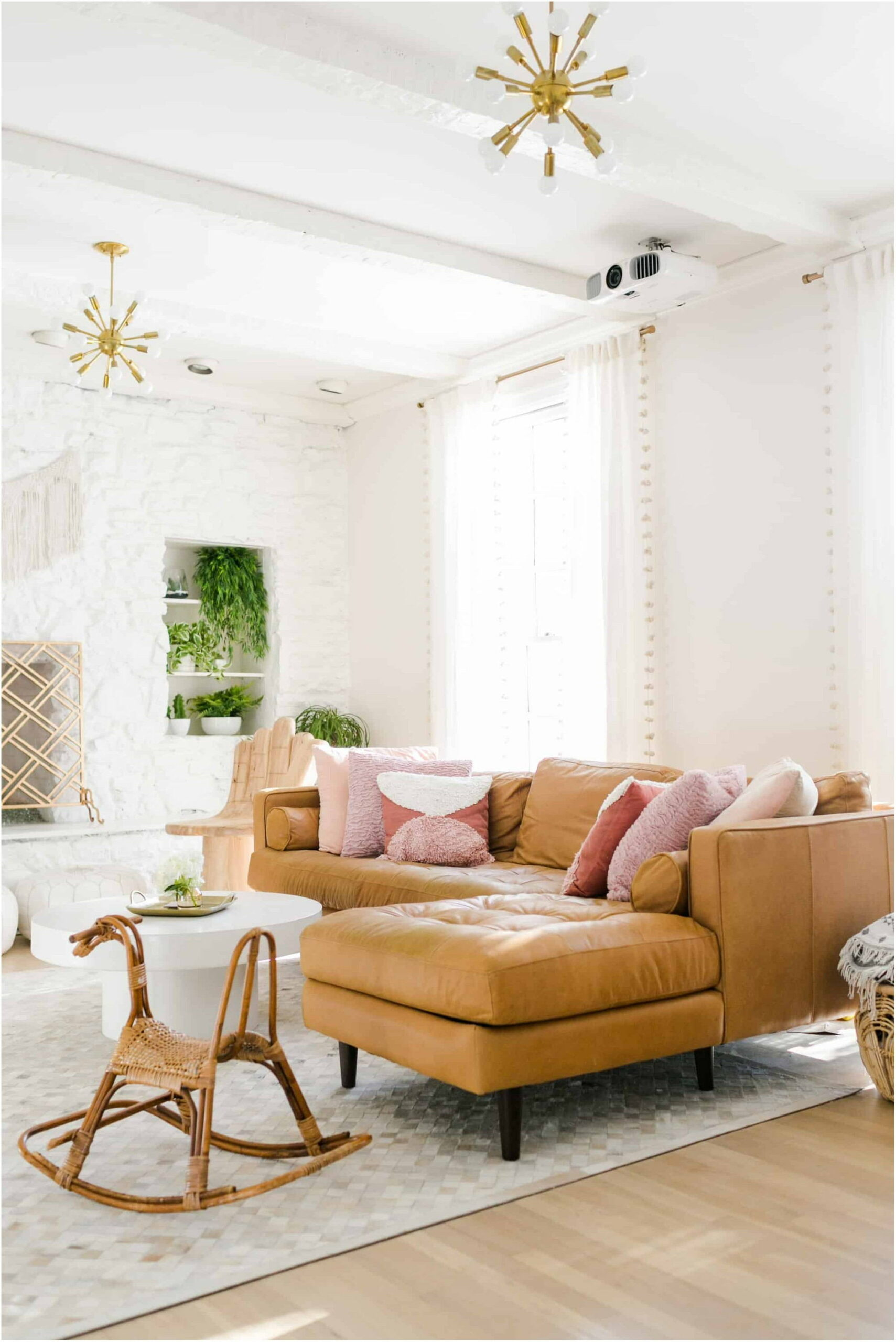 Living Room Interior White Paint