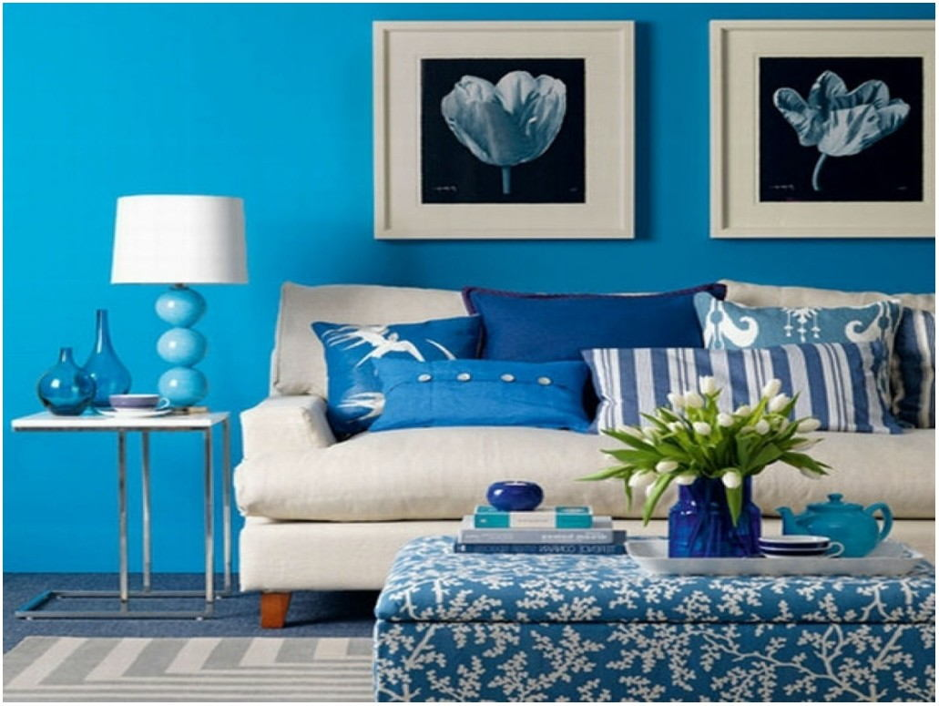 Living Room Paint Color Combinations Blue Brown