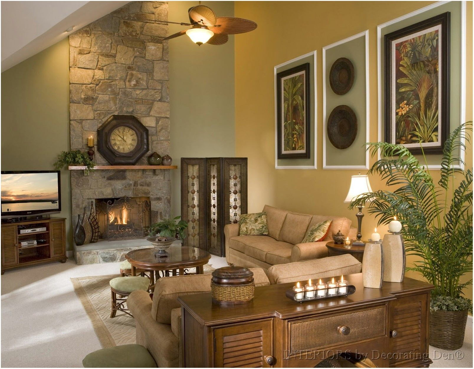 Living Room Paint Ideas Cathedral Ceiling