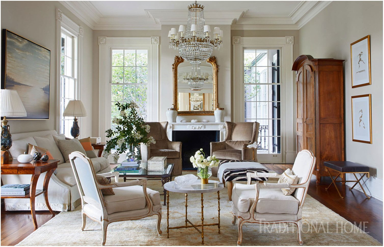 Living Room Traditional Home Interior